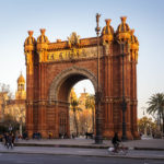 Der Triumphbogen (Arc de Triomf) in Barcelona