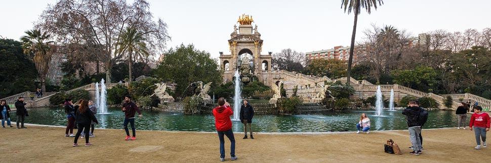 Cascada Monumental im Parc de la Ciutadella in Barcelona