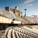 Innenansicht des Olympiastadions Estadi Olímpic Lluís Companys