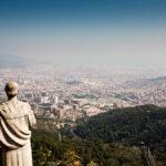 Ausblick vom Turm der Kirche Sagrado Corazón auf Barcelona