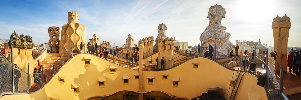 Dach der Casa Mila (La Pedrera) in Barcelona