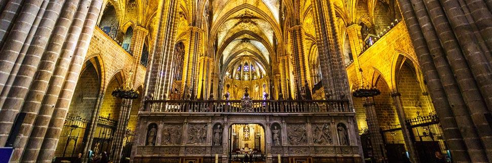 Innenansicht der Catedral de Barcelona