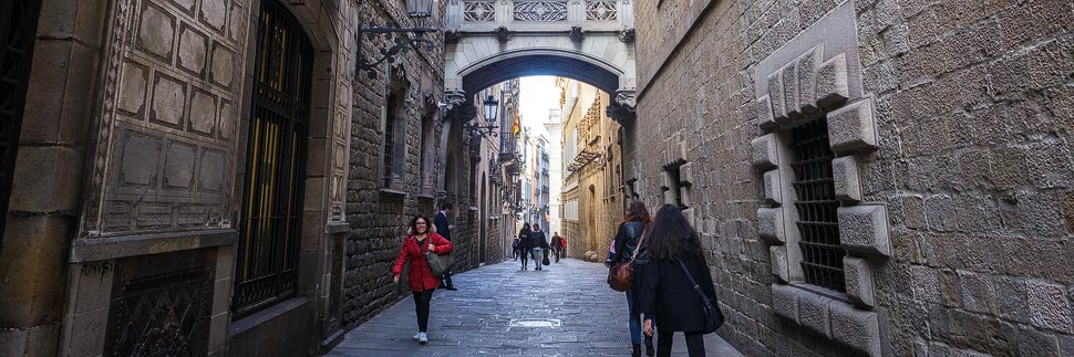 Das Viertel Barri Gòtic (Gotisches Viertel) in Barcelona
