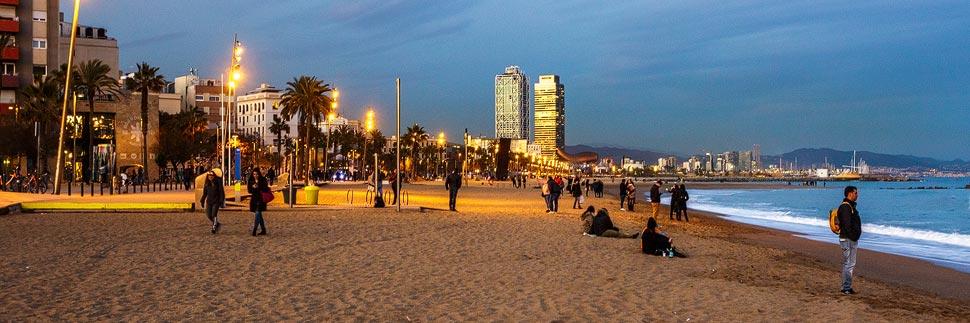 Strand La Barceloneta in Barcelona