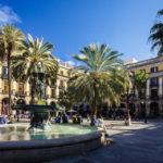 Plaça Reial im Barri Gòtic (Gotisches Viertel) in Barcelona