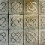 Bodenmuster auf einem Gehsteig in Barcelona