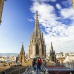 Dachterrasse der Kathedrale von Barcelona