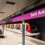 Metro L2 in der Station Sant Antoni in Barcelona