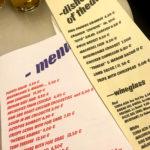 Speisekarte im Tapas-Lokal Bar del Pla in Barcelona