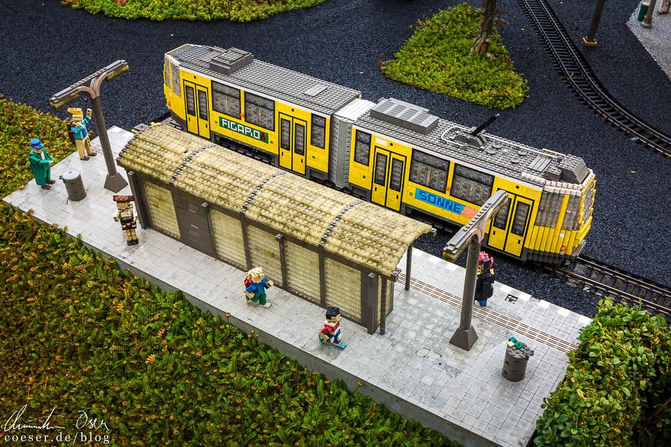 Die Berliner Straßenbahn im Legoland Deutschland Resort in Günzburg
