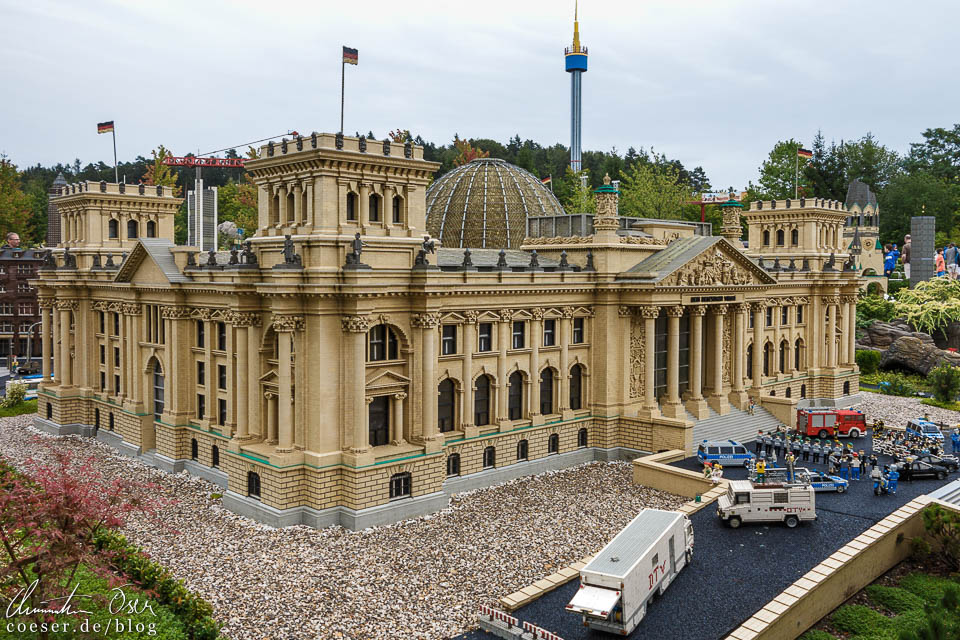 Der Berliner Reichstag im Legoland Deutschland Resort in Günzburg