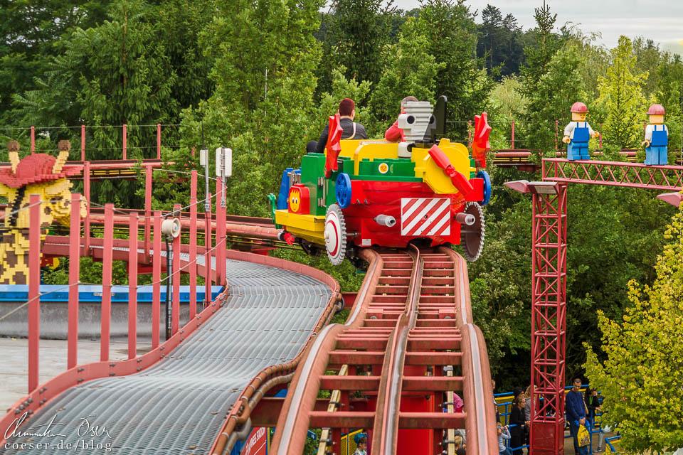 Die Hochbahn Tret-o-Mobil im Legoland Deutschland Resort in Günzburg