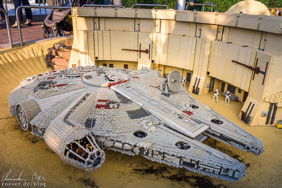 Millennium Falke in der Star-Wars-Dauerausstellung im Legoland Deutschland Resort in Günzburg