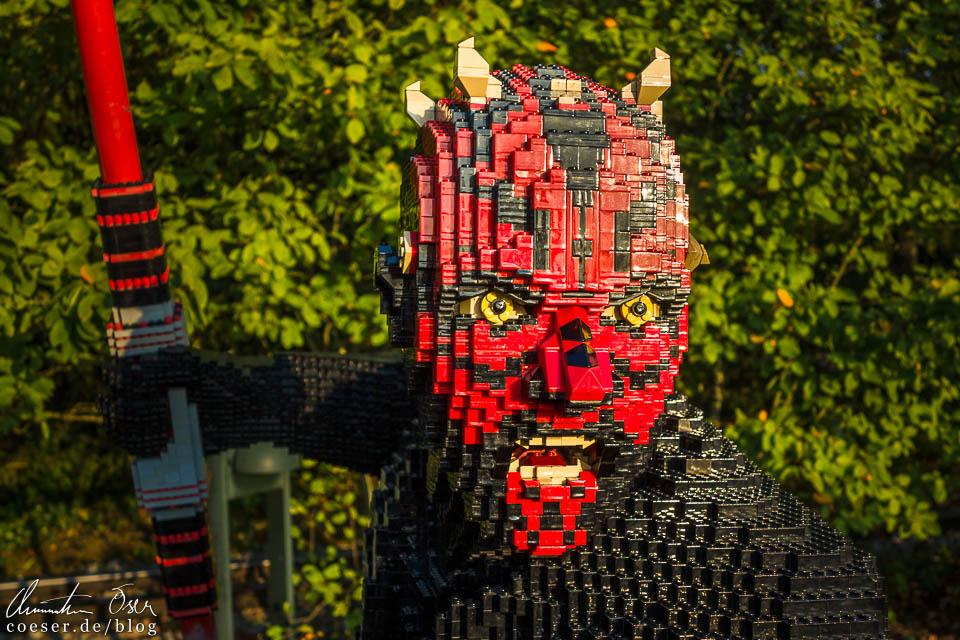 Darth Maul in der Star-Wars-Dauerausstellung im Legoland Deutschland Resort in Günzburg
