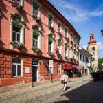 Hotel Mitra und der Stadtturm von Ptuj
