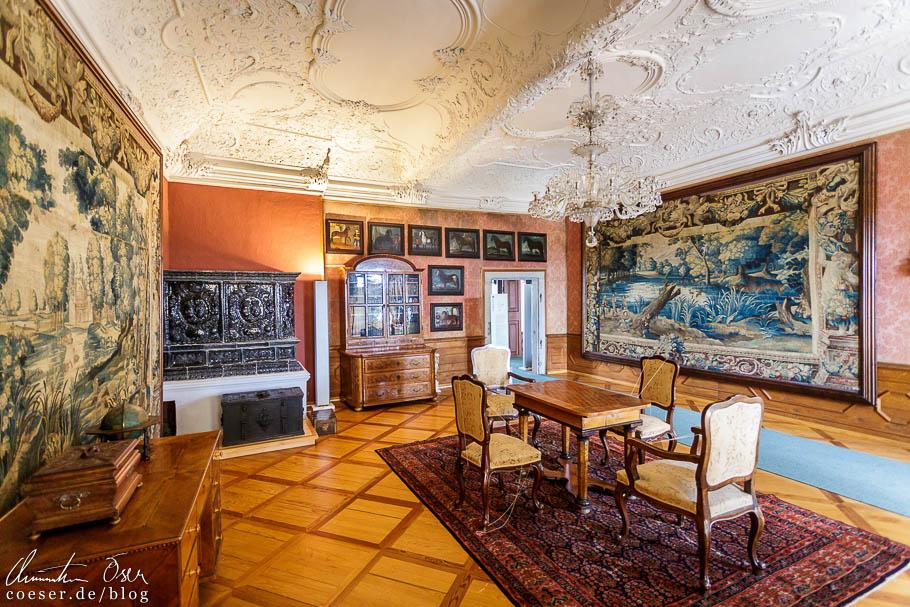 Historische Einrichtung im Schloss von Ptuj