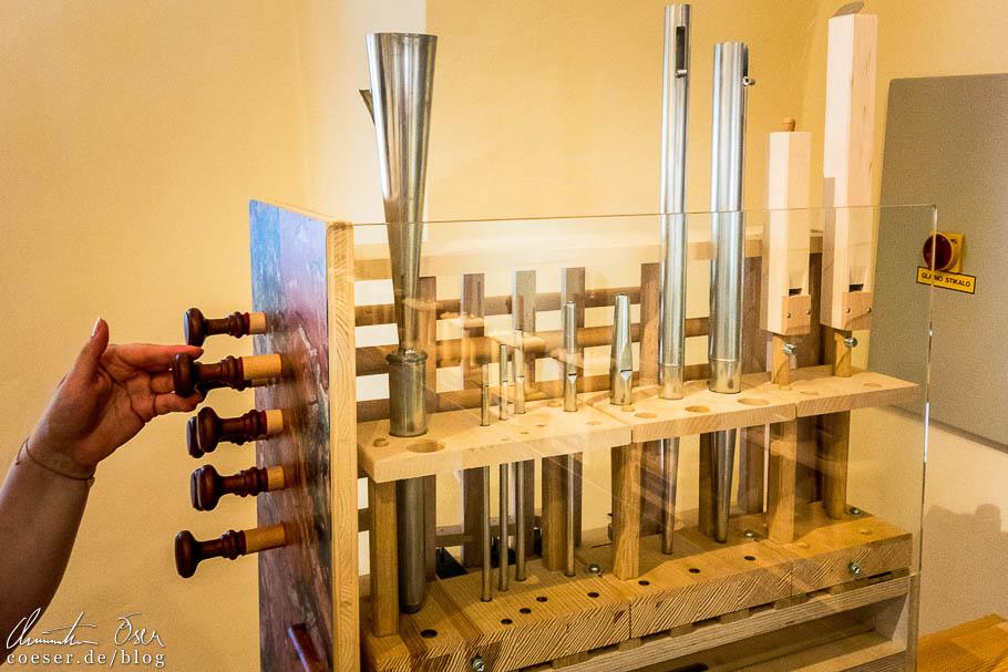 Musikinstrumentenmuseum im Schloss von Ptuj
