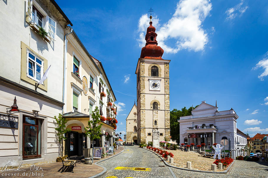 Der Stadtturm in Ptuj