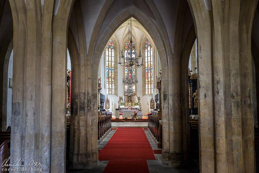 Die gotische Georgskirche (St. Jurij) in Ptuj