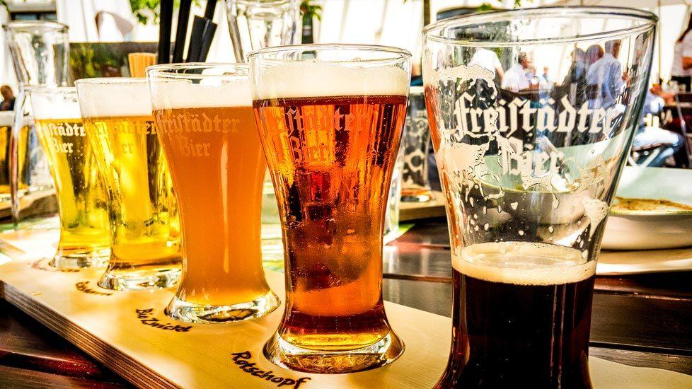 Biere der Brauerei Freistadt in Oberösterreich