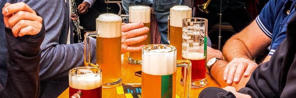 Biergläser im Floriani Bräu