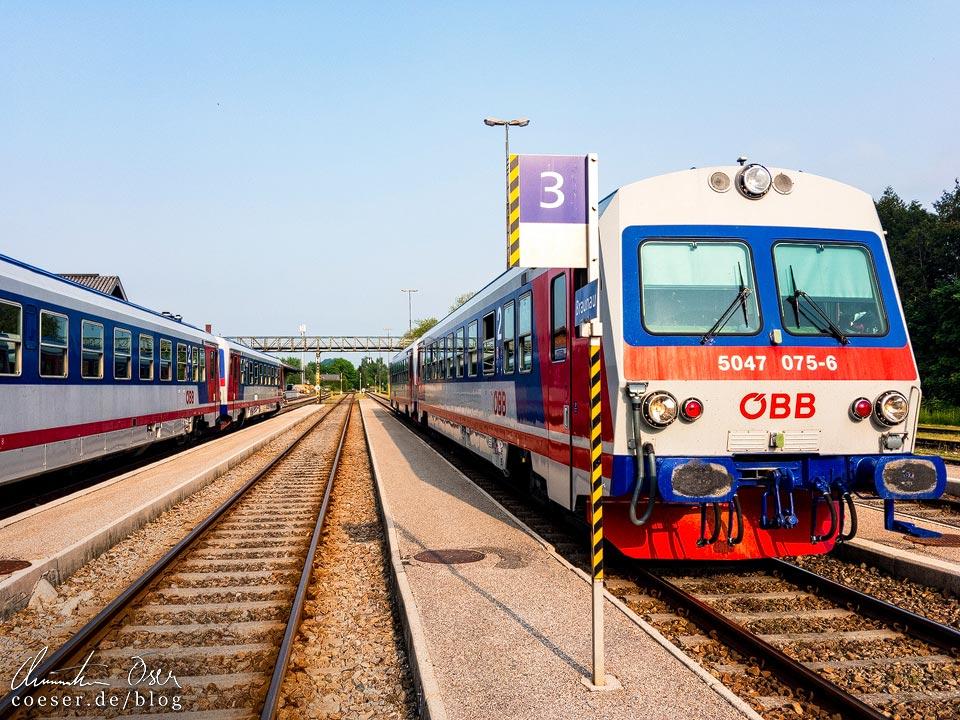 Anfahrt nach Braunau mit dem Regionalzug
