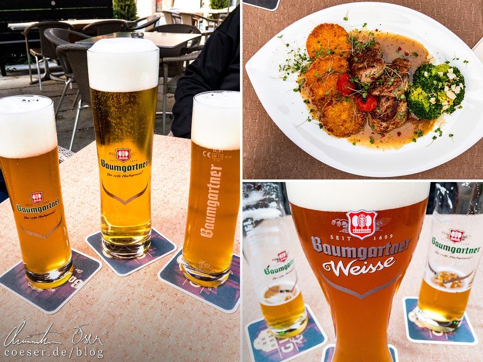 Baumgartner Bier aus Schärding in der Gugg-Lounge in Braunau