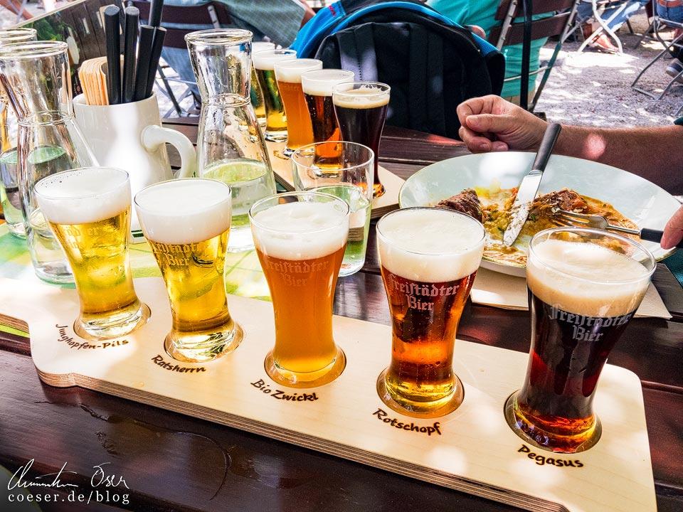Biertasting im Brauhaus der Freistädter Brauerei