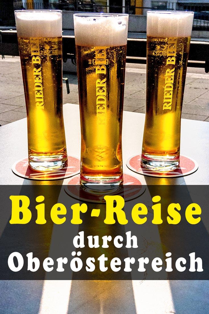 Biertour in Oberösterreich: Erfahrungsbericht zum Besuch von acht Orten verschiedener Brauereien mit Beschreibung der Biersorten und Restauranttipps.