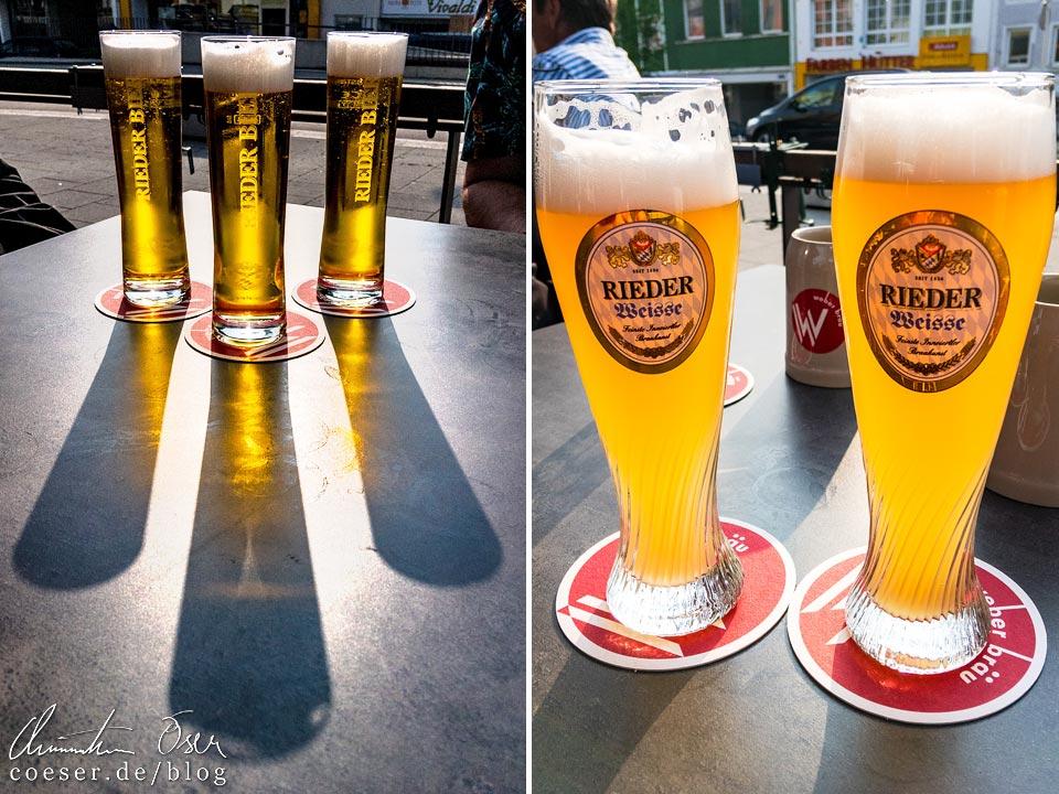 Rieder Bier und Rieder Weisse
