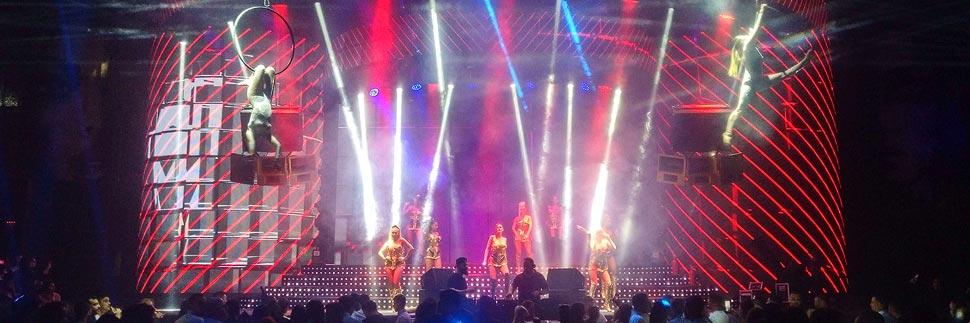 Abendshow im Face Club in Bukarest