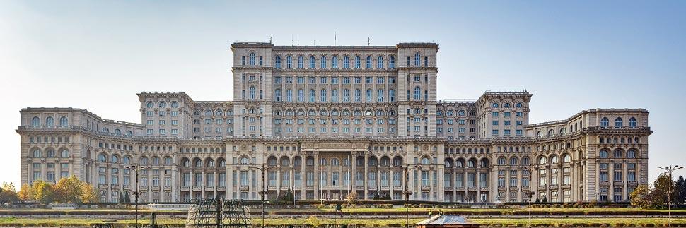 Außenansicht des Parlamentspalast in Bukarest
