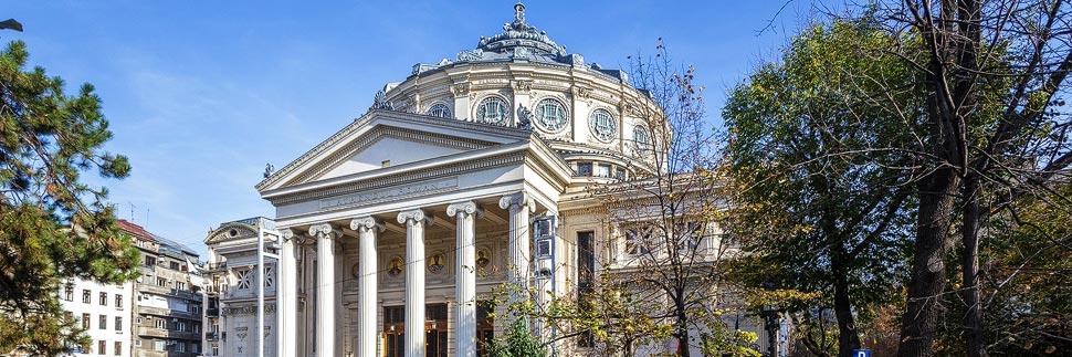 Außenansicht des Athenäums in Bukarest