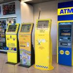 Taxiautomaten im Flughafen Bukarest Otapendi