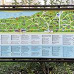 """Orientierungsplan im Freilichtmuseum """"Dimitrie Gusti"""" in Bukarest"""