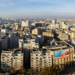 Panoramablick vom Zimmerbalkon des Hotel Intercontinental auf Bukarest