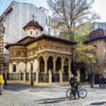 Außenansicht des Klosters Stavropoleos in Bukarest