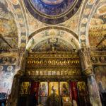 Innenansicht des Klosters Stavropoleos in Bukarest