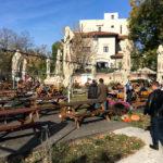 Der Gastgarten im Restaurant City Grill in Bukarest