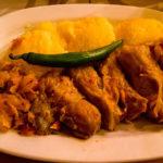 Krautrouladen mit Polenta im Restaurant Hanu' lui Manuc
