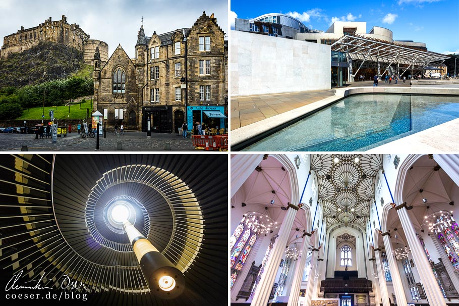 Architekturbeispiele in Edinburgh