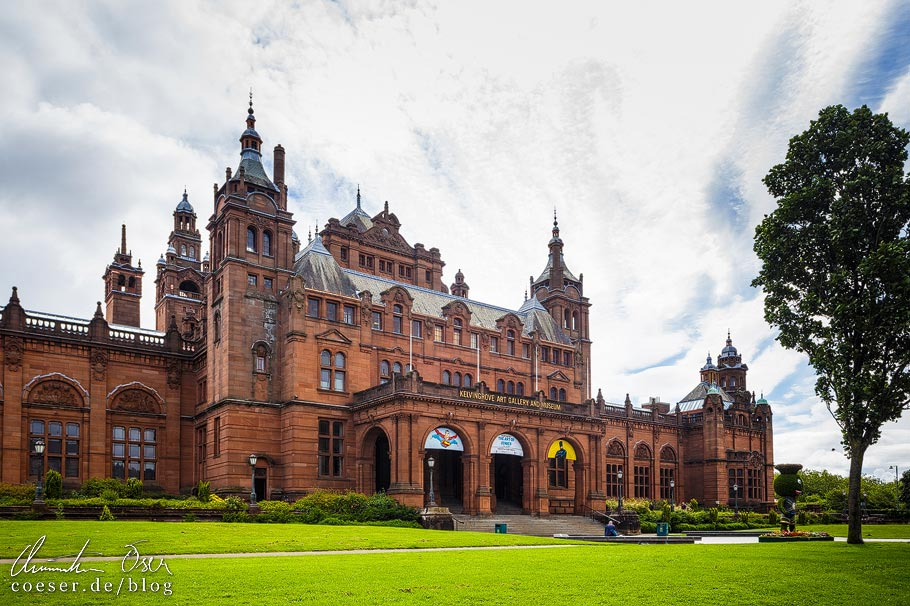 Außenansicht der Kelvingrove Art Gallery in Glasgow
