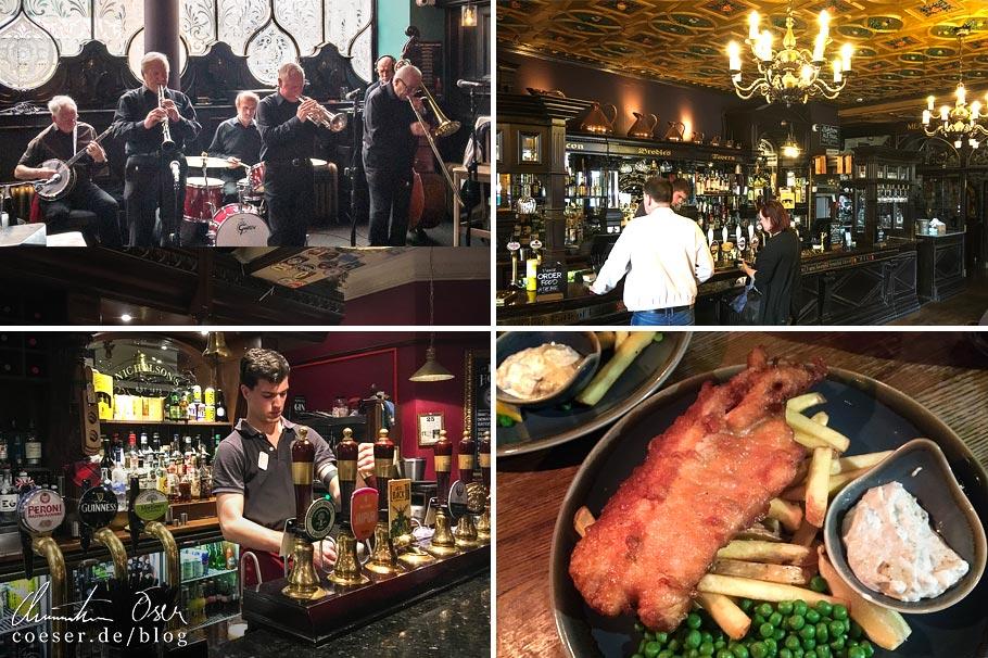 Pubs in Glasgow und Edinburgh