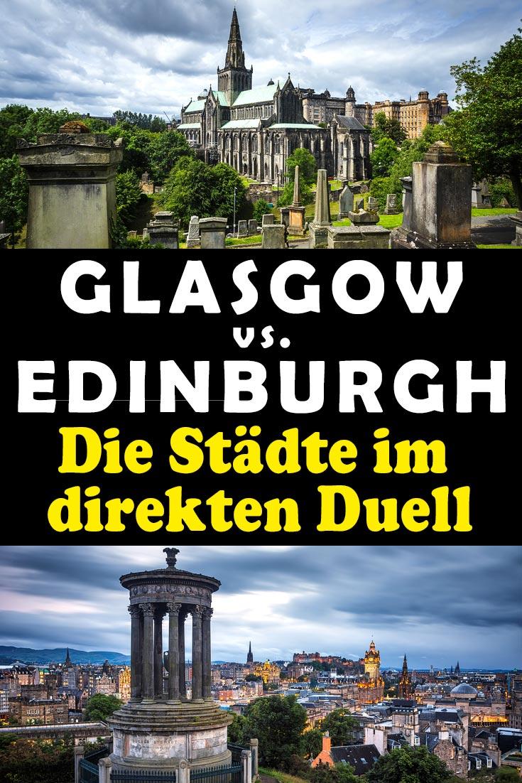 Glasgow und Edinburgh im Vergleich mit Erfahrungen zu Sehenswürdigkeiten, den besten Fotospots sowie allgemeinen Tipps und Restaurantempfehlungen.