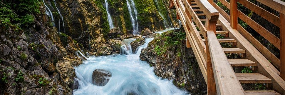 Die Wimbachklamm in Ramsau bei Berchtesgaden