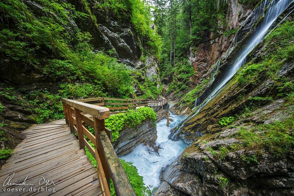 Wanderung durch die Wimbachklamm in Ramsau bei Berchtesgaden