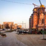 Die neue Patriarchalkathedrale der Erlösung des Volkes und der Parlamentspalast von Bukarest