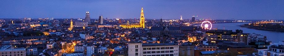 Nächtliche Ansicht (Cityscape) von Antwerpen
