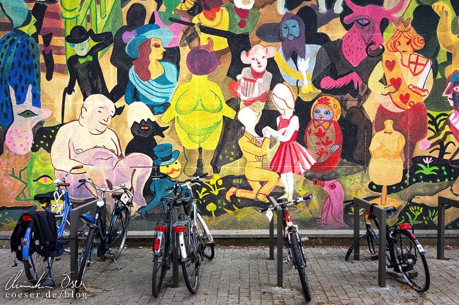 Street Art wird in Antwerpen