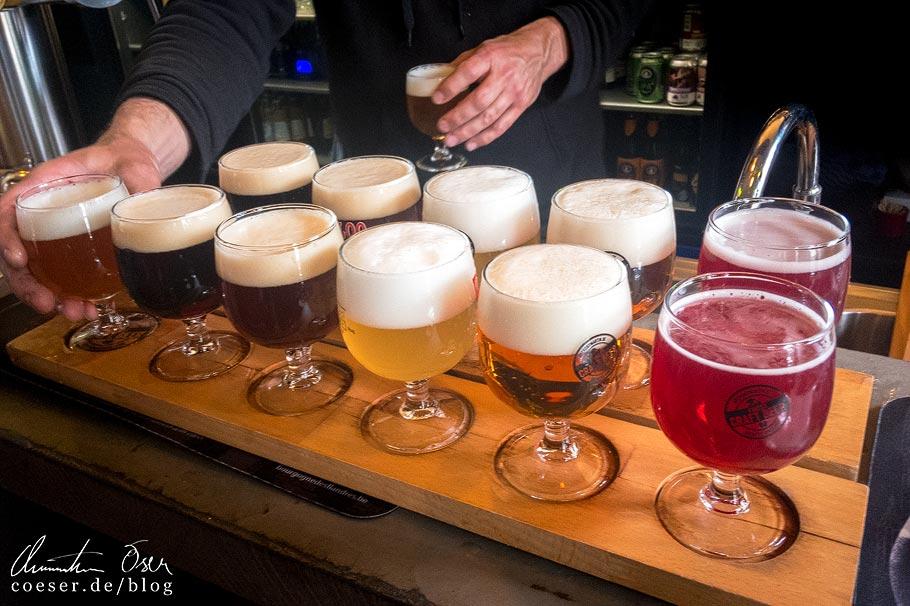 Belgisches Bier in der Brauerei Bourgogne des Flandres in Brügge